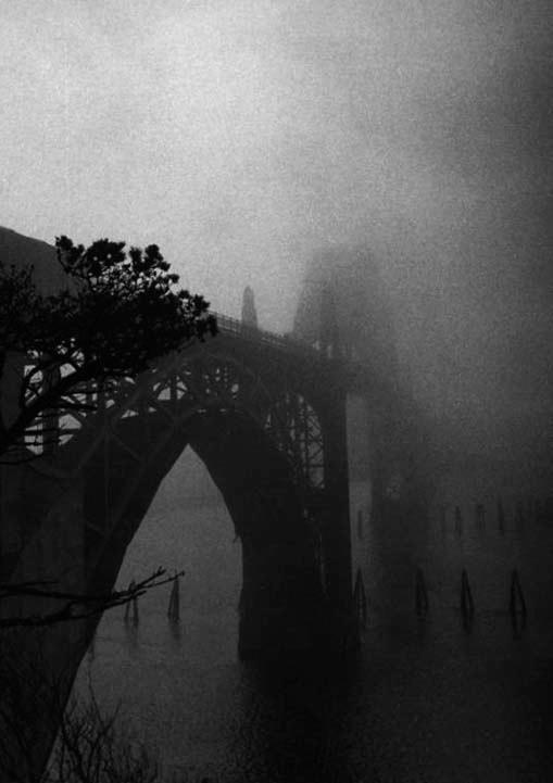 Yaquina Bay Bridge in Fog - ID: 14559122 © Joan E. Bowers