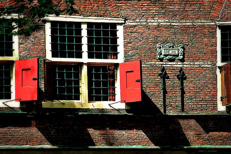 red shutters - ID: 14560409 © Karen E. Michaels