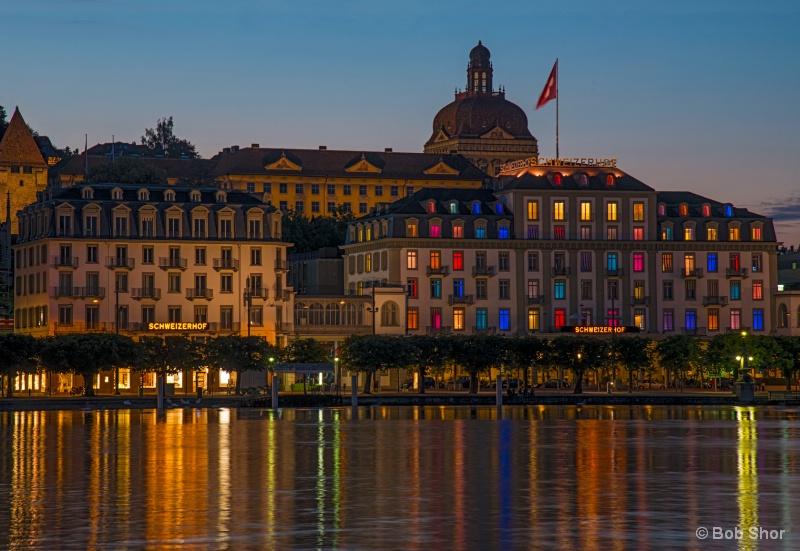 Lights of Hotel Schweizerhof