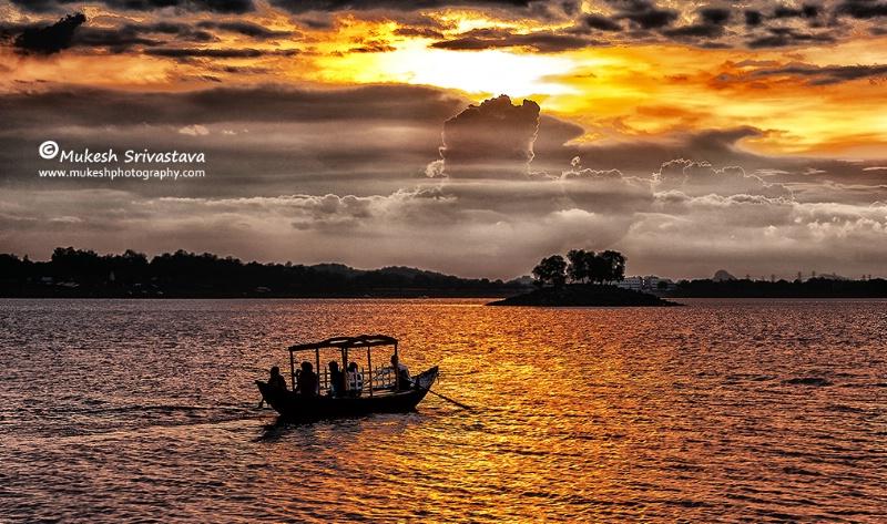 Sailing In Golden Hour
