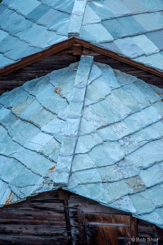 Slate Roofs of Old Zermatt