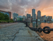 Sunset Rowe's Wharf - Boston, MA