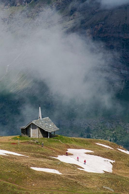 Lone Church in the Alps