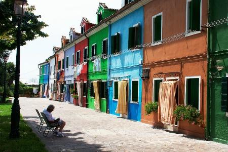 Burano Street Scene