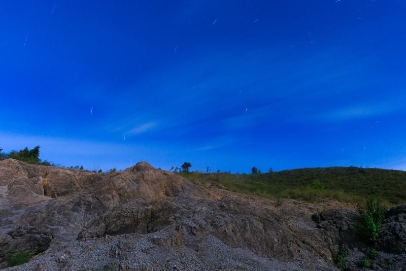 Star Trail And Cloud Trail