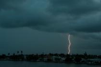 Treasure Island, FL lightning in morning storm