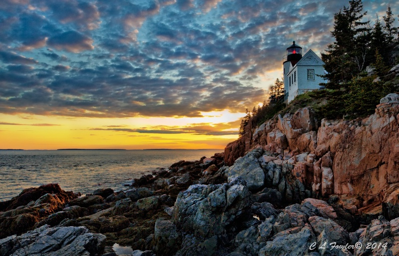 Bass Harbor Light Sunset