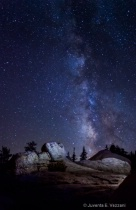 Soft Light Painting - rocks and the Milky Way