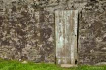 Wood Door in Stone House