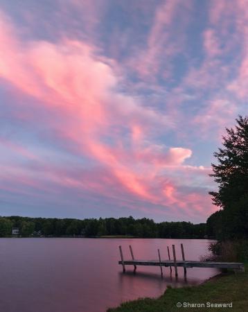Sunset at Locke Lake