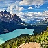2Eagle View of Peyto Lake - ID: 14672604 © Zelia F. Frick