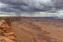 Rain storms across Canyonlands