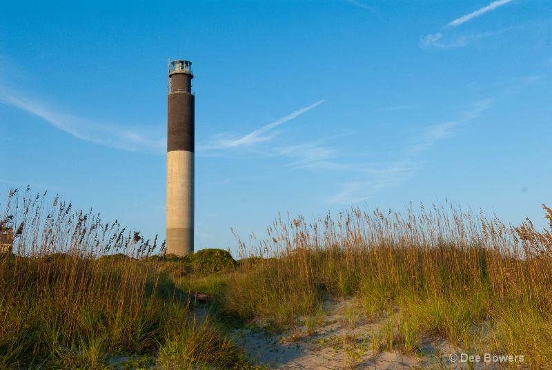 Oak Island Lighthouse in Fall