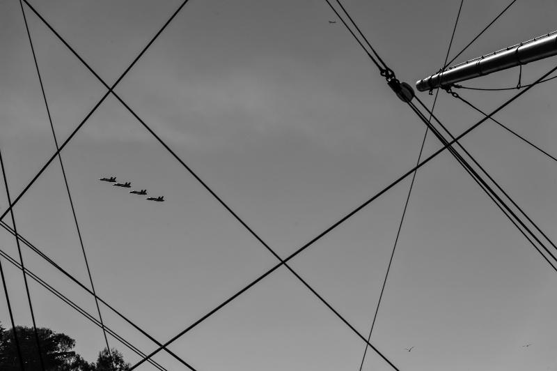 The Blue Angels in Black n White