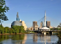 Canadian Museum for Human Rights and Riel Bridge