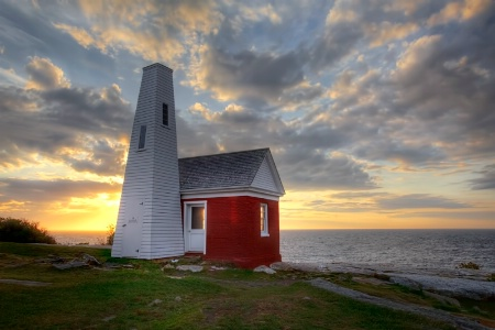 Storage Shed At Pemequid Lighthouse