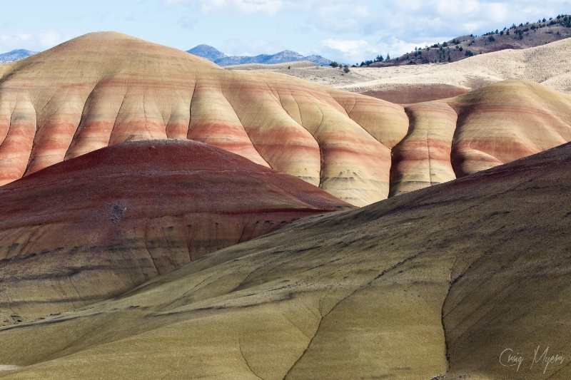 Painted Hills, Sun & Shadow - ID: 14743358 © Craig W. Myers