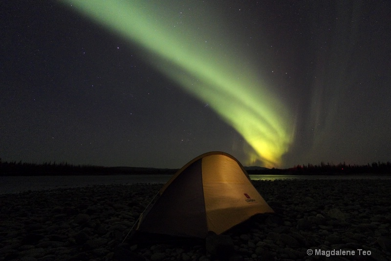 Auroras over Tent - ID: 14743581 © Magdalene Teo