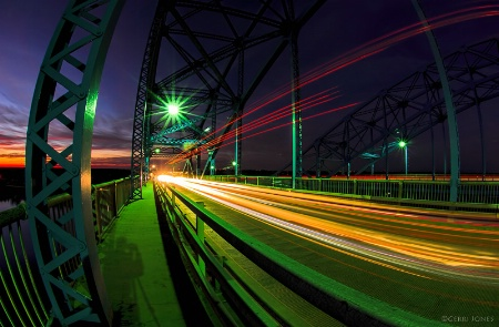 Grand Island Bridge Light Trails