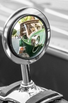 Antique Car Mirror with Selective Color 086