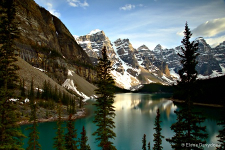 another classical view of Moraine Lake
