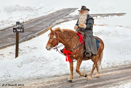 Cowboy Claus Rides into Town