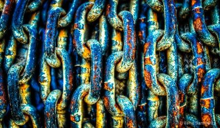 Sea-weathered chain