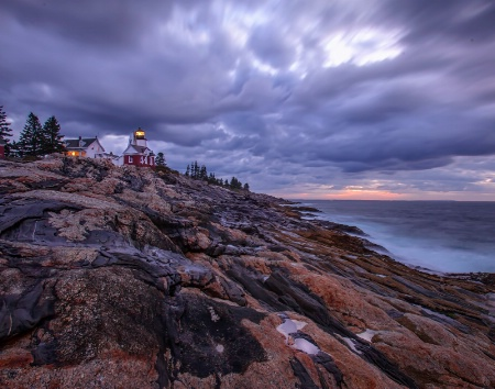 The Pemaquid Lighthouse At Dawn 9431