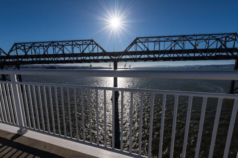 Last Christmas Sun over the Old Bay Bridge.