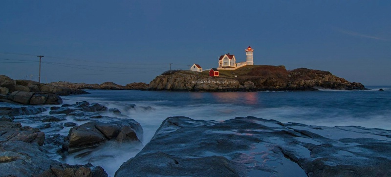 Nubble Light at Christmas