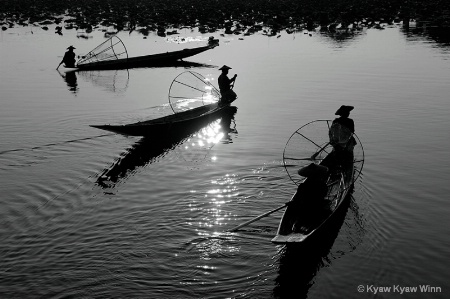 Fishermen from Inle Lake of Myanmar