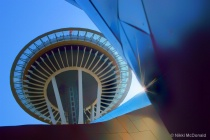 Space Needle from EMP Museum