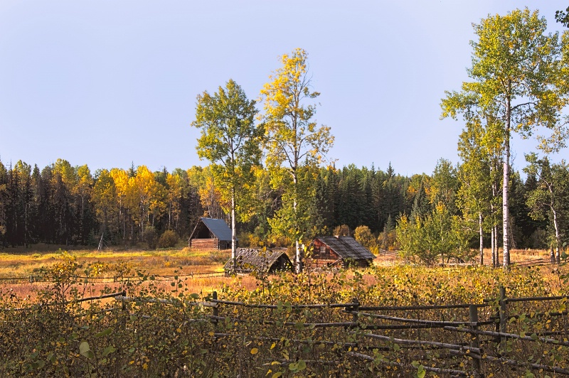 old homestead - fall colors -    larry citra - ID: 14813891 © Larry J. Citra