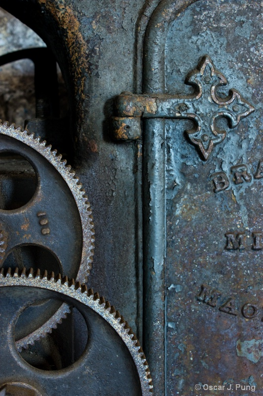 Detail of Old Gear Cutting Machine