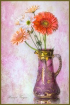 Old Vase With Flowers 7945