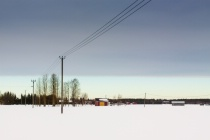 Winter Sky Over The Fields 2