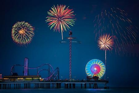 Celebrating on Pleasure Pier