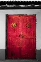 Red Door on Grayscale