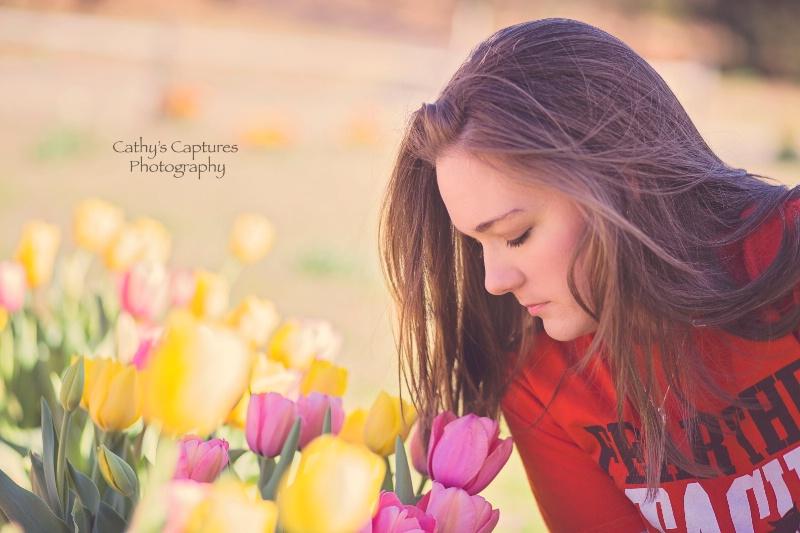 ~Beautiful Girl, Beautiful Flowers~ - ID: 14864268 © Cathy A. Rose