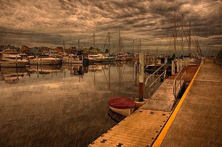 Stormy Marina
