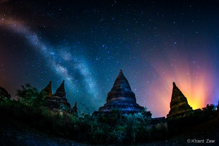 Galaxy over Bagan