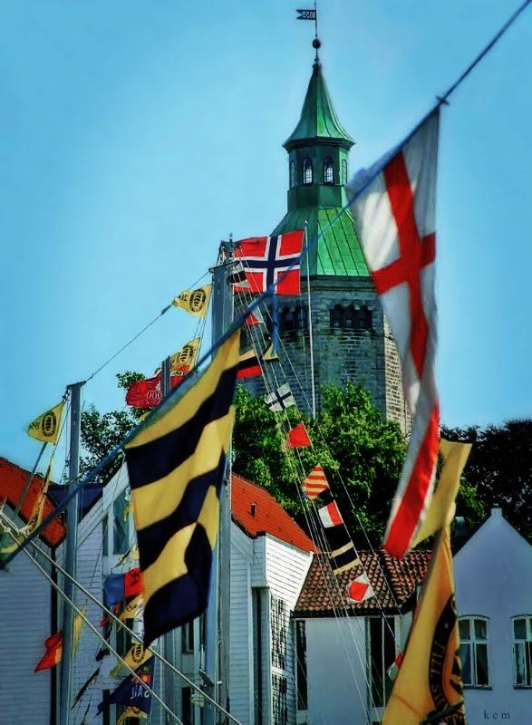 Regatta Flags - ID: 14895690 © Karen E. Michaels
