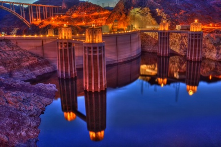 Hoover Dam Twilight