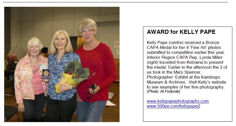 Bronze CAPA Medal 2014 - ID: 14912107 © Kelly Pape