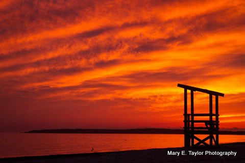 sunset at seagull beach - ID: 14927212 © Mary E. Taylor