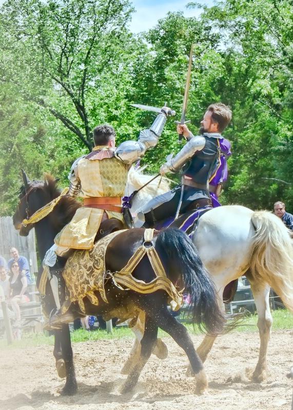 Battling Knights