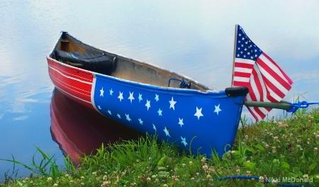 Patriotic Canoe