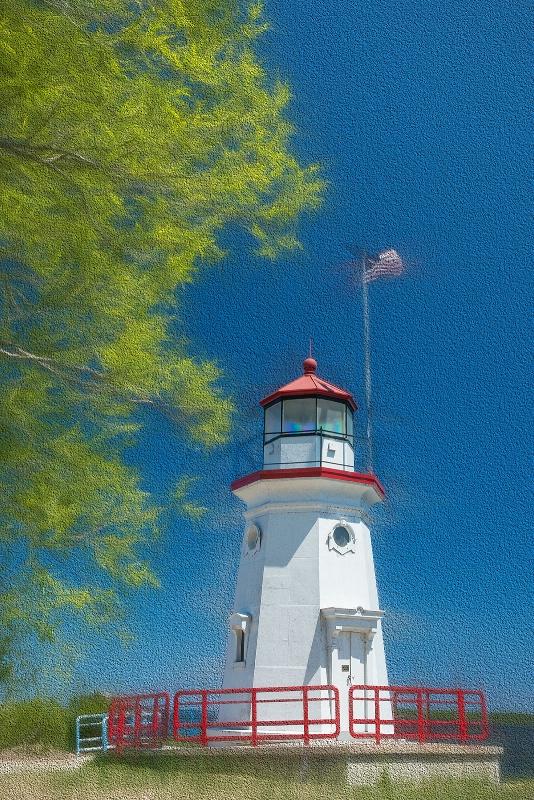 cheboygan crib lighthouse - ID: 14933396 © Ronald Balthazor