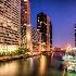 © Ronald Balthazor PhotoID# 14933402: evening on the chicago river