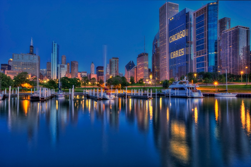 Chicago Harbor Reflections - ID: 14934344 © Leslie McLain